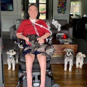Derek Wood with Dogs