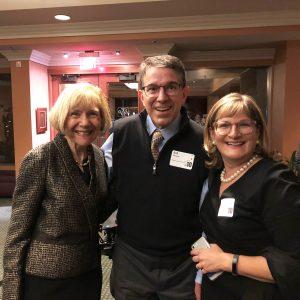photo of Drs. Eva Feldman, Bob Schoeni and Gretchen Spreitzer at the A2A3 Gala in 2018